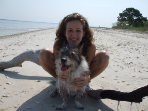 My sister and her puppy Matilda at the beach!